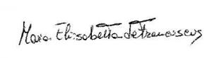 Elisabetta signtature